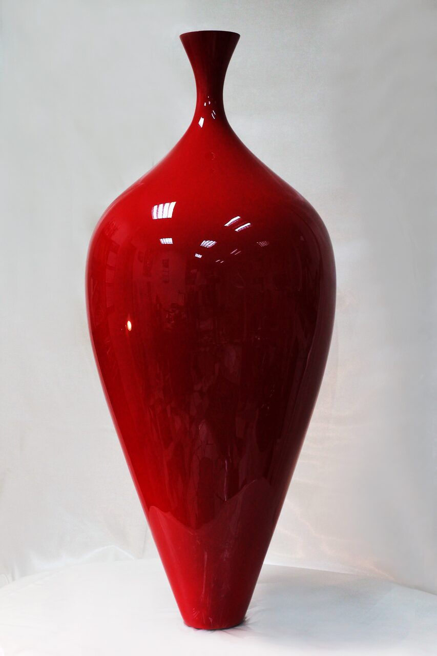 TIF RE Tiffany vase red Ferrari Glossy Lacquer 52x52x119 cm